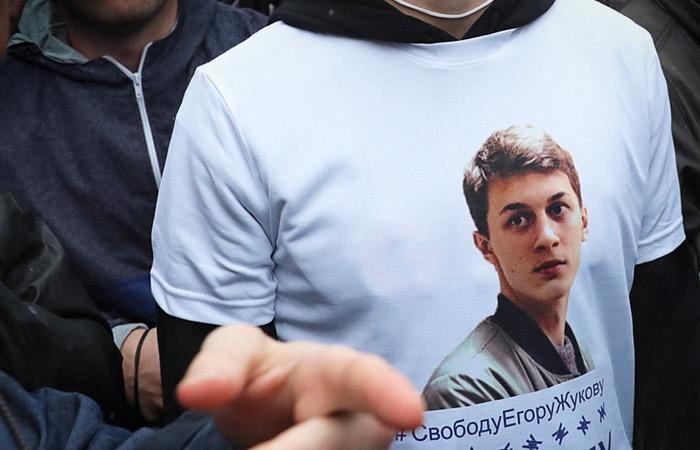 Во время акции в поддержку независимых кандидатов в депутаты Мосгордумы