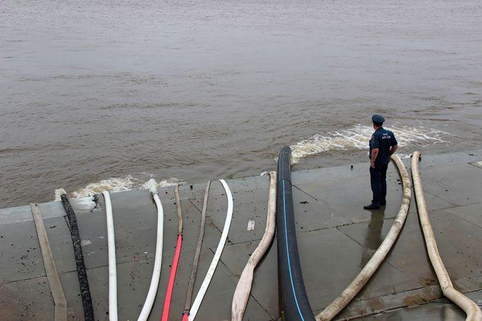 Уровень воды в Амуре в Хабаровске снизился до 6 м