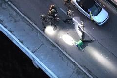 Угрожавшего взрывом на мосту Метро в Киеве решили не обвинять в теракте
