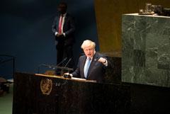 Борис Джонсон преждевременно покинул Генассамблею ООН и вернулся в Лондон
