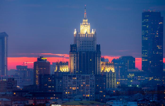 МЧС подтвердило возгорание в здании МИД России