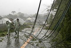 """Стало известно о первой жертве дошедшего до Японии тайфуна """"Хагибис"""""""