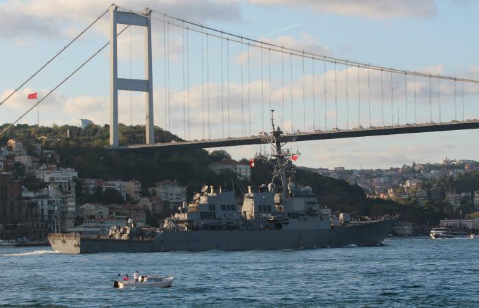 Российские военные сообщили о наблюдении за эсминцем США в Черном море