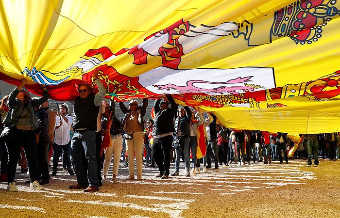 В Мадриде прошел митинг ультраправых против автономии Каталонии