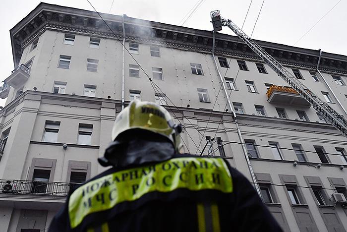 Пожар в квартире в центре Москвы ликвидирован
