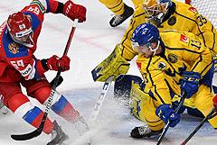 Сборная России по хоккею победила Швецию в матче Кубка Карьяла