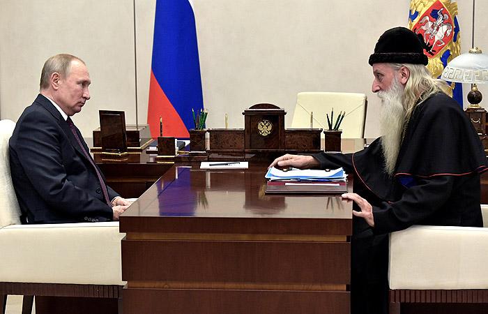 Путин обсудил с митрополитом Корнилием возвращение старообрядцев в Россию