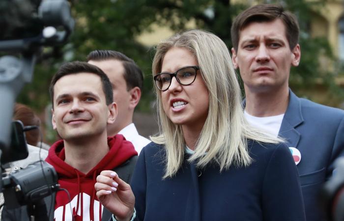 Илья Яшин и Любовь Соболь задержаны у здания Мосгоризбиркома