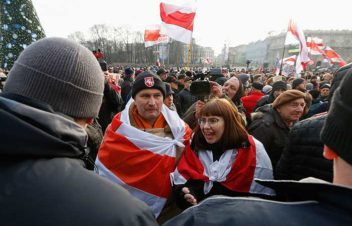 Акция в Минске против объединения с Россией переместилась к Дому правительства