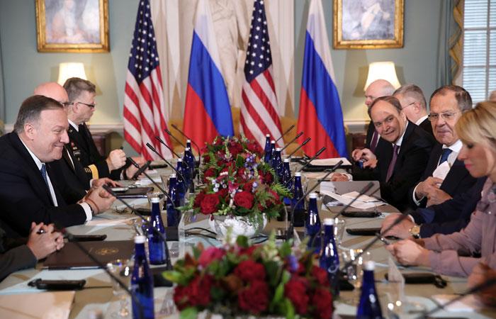 Лавров и Помпео начали переговоры в Вашингтоне