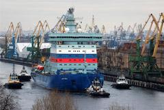 """Атомный ледокол """"Арктика"""" начал ходовые испытания на дизельных двигателях"""