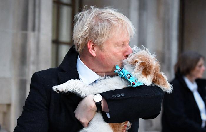 Премьер Великобритании и мэр Лондона взяли на избирательные участки своих собак