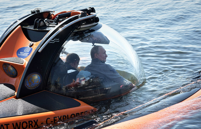 Перед летним погружением Путина на дно Финского залива было найдено минное поле
