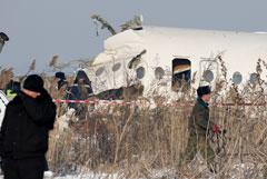 Опубликована запись переговоров с экипажем рухнувшего близ Алма-Аты лайнера