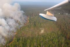 Самолеты Минобороны прибыли в Красноярск для тушения лесных пожаров