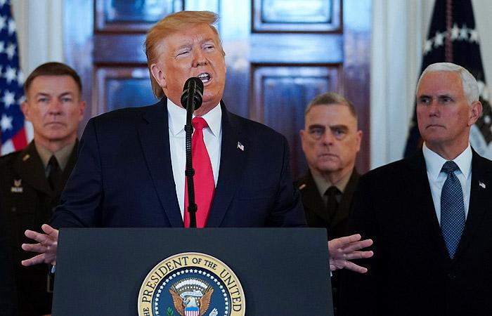 Трамп заявил, что американцы не пострадали при иранском обстреле в Ираке