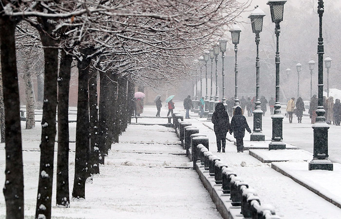 Снегопад в столичном регионе продлится до вечера