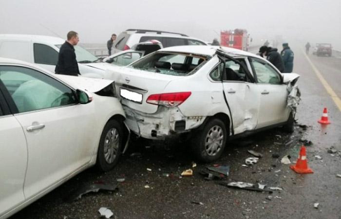 В массовое ДТП в Адыгее попали 34 автомобиля