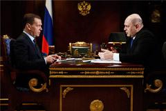 Мишустин и Медведев поговорили один на один больше часа