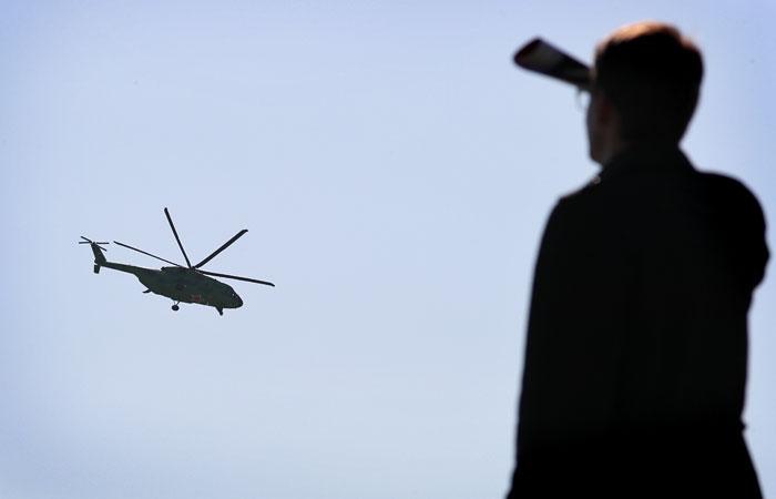 Вертолет задел электропровода при посадке под Ярославлем