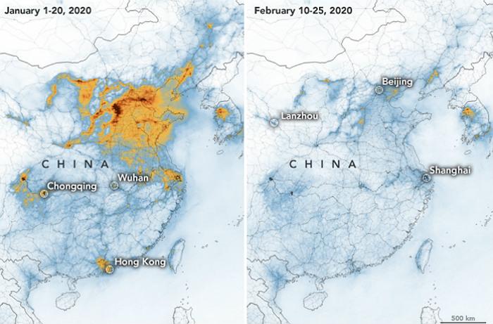 Распространение коронавируса улучшило экологическую ситуацию в Китае