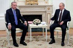 Эрдоган и Путин продолжили переговоры в Москве с участием делегаций