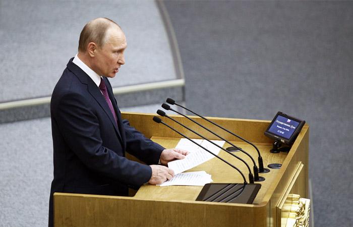 Путин во вторник выступит перед депутатами Госдумы