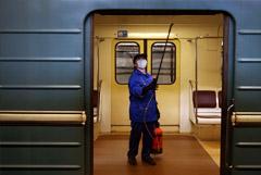 Московский метрополитен закупил 6000 литров дезинфицирующего средства