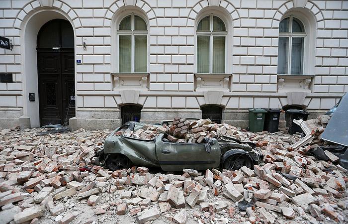 В Загребе произошло разрушительное землетрясение
