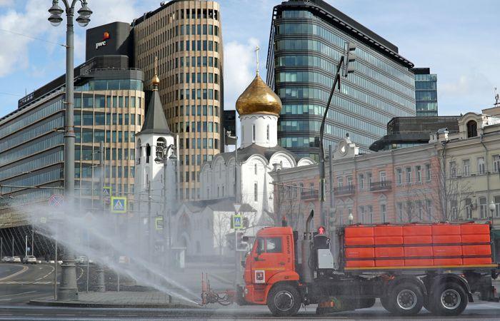 Третью масштабную дезинфекцию проведут в Москве в воскресенье
