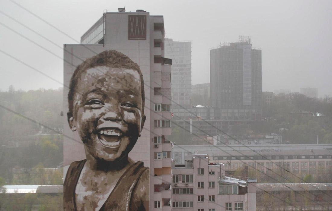 Киев накрыла пыльная буря