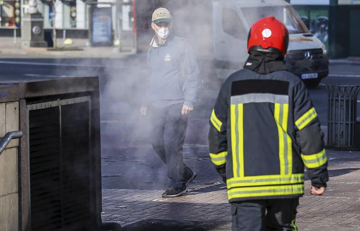 Кличко заявил, что дым в Киеве от пожаров в Чернобыльской зоне не радиоактивен