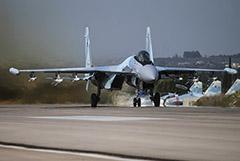 Российский Су-35 в Сирии подняли в воздух для перехвата самолета-разведчика США