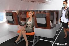 Итальянские дизайнеры создали модели салонов самолетов для мира после пандемии