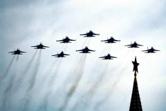 В небе над Москвой началась репетиция авиапарада ко Дню Победы