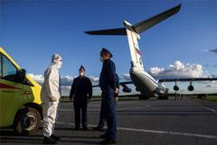 Последний самолет с российскими военными прибыл из Италии