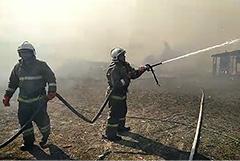 Пожар в цыганском поселке в Самарской области удалось потушить