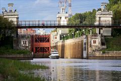 Судоходство по Каналу имени Москвы над Тушинским тоннелем снова закрыли из-за протечки