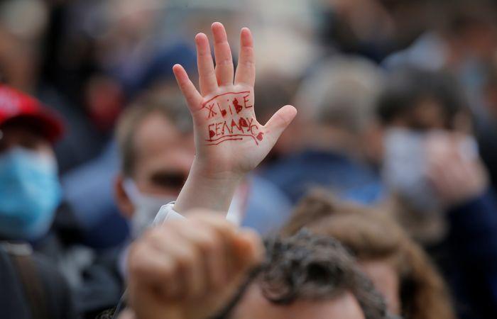 Пикет в поддержку соперников Лукашенко в Минске длился почти семь часов
