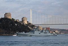 """В Средиземное море вошел ракетный фрегат ЧФ """"Адмирал Макаров"""""""