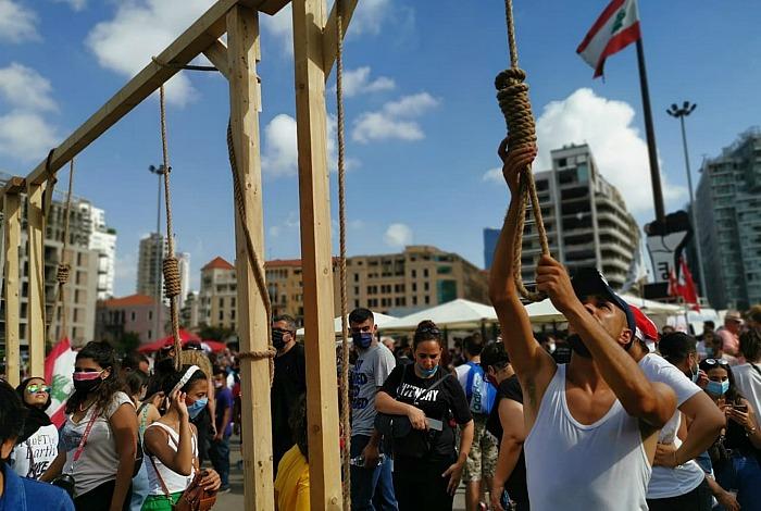 На антиправительственных митингах в Ливане применили слезоточивый газ