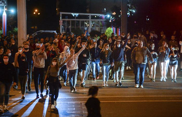 В Белоруссии в ночь на 12 августа задержали больше тысячи протестующих