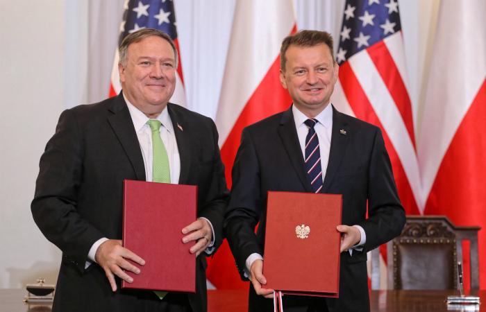 Помпео подписал соглашение о переброске тысячи военных США в Польшу