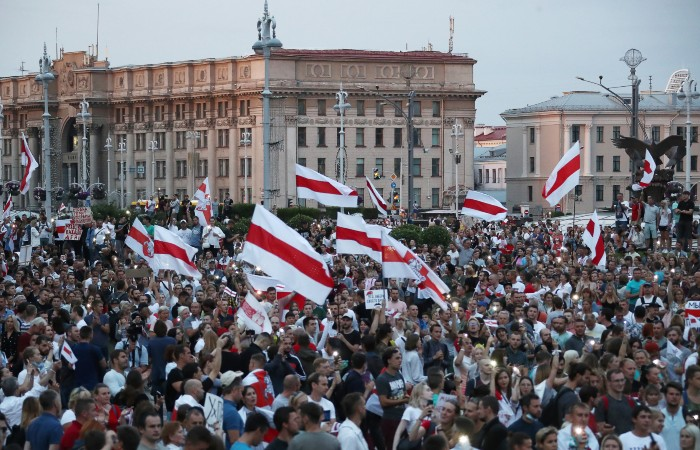 Противники Лукашенко собрались на новый митинг в центре Минска