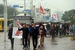 Протестующие начали собираться в центре Минска
