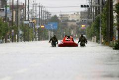 Число жертв наводнения в Японии достигло 50 человек