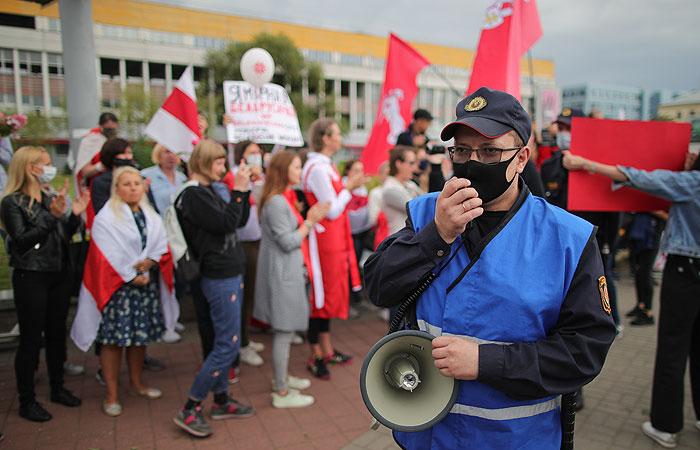 В центре Минска активистки собрались на новую акцию протеста