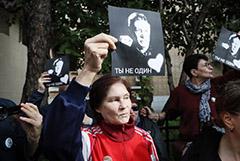 Нарушителей порядка задержали у суда, где оглашают приговор Ефремову