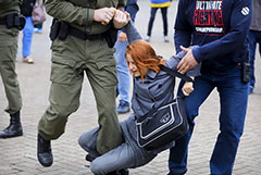 На акции солидарности с Колесниковой в Минске прошли задержания