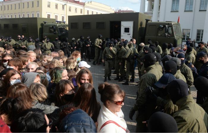 На субботних акциях в Белоруссии задержали 114 человек